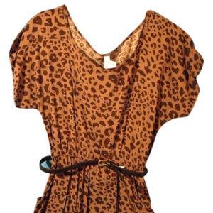 Animal print causal dress
